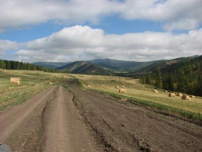 Дорога на Ороктойский перевал
