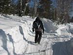 Это вчерашний свороток, уже разглаженный снегоходами