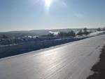 Ближе к Алтаю вновь упала температура и дорога накатана как стекло