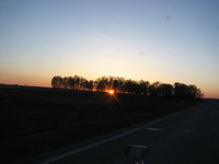 Закат под Новосибирском